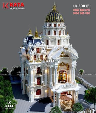 Phối cảnh 3D ngoại thất mẫu biệt thự dinh thự lâu đài đẹp
