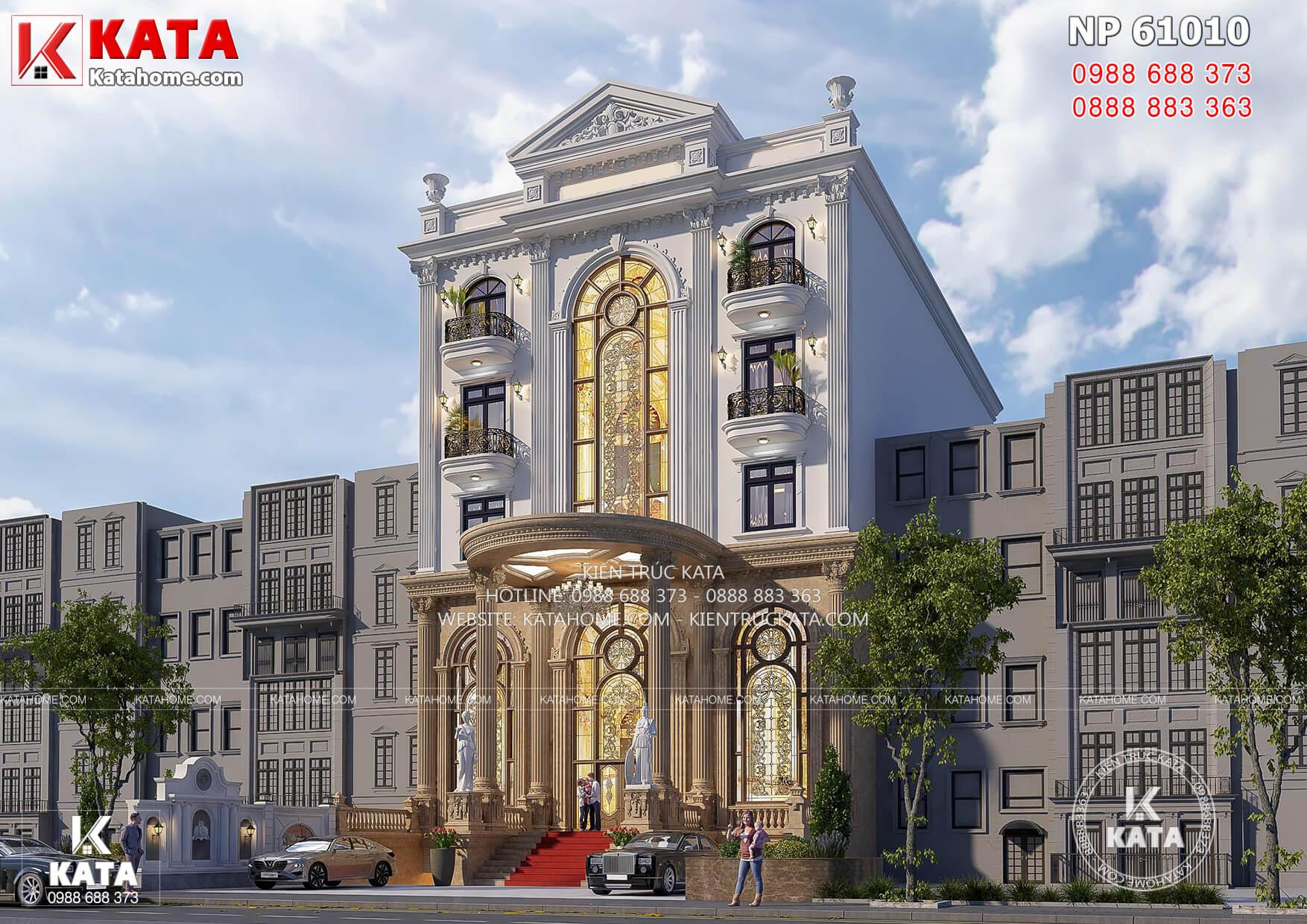 Một góc view mẫu thiết kế khách sạn 3 sao đẹp mặt tiền 15m đẹp.