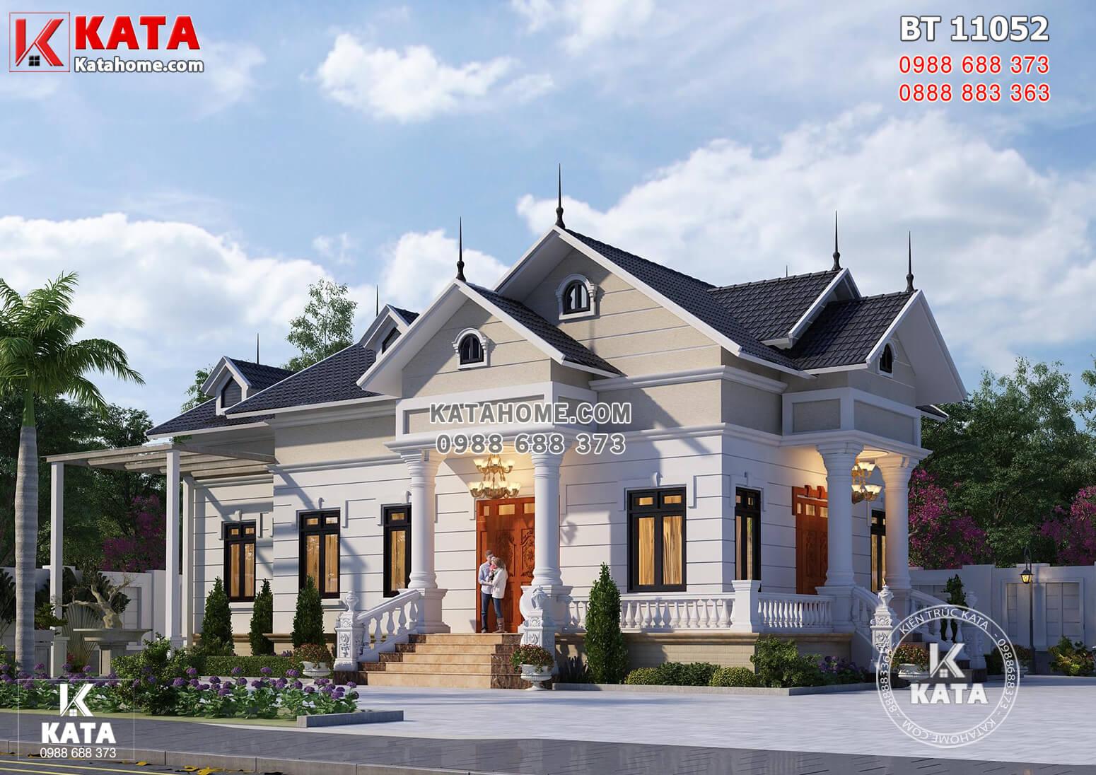 Một góc view đẹp mẫu biệt thự 1 tầng tân cổ điển đẹp tại Thanh Hóa