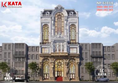 Thiết kế tổ hợp khách sạn văn phòng làm việc kinh doanh - NP 61018