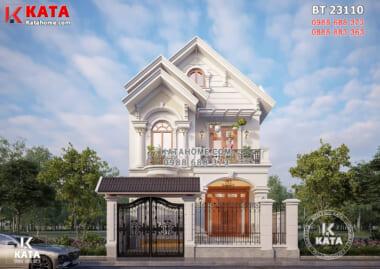 Hình ảnh: Không gian ngoại thất của mẫu nhà 2 tầng đẹp mái Thái - BT 23110
