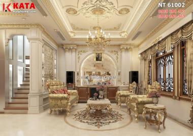 Hình ảnh: Thiết kế nội thất phòng khách đậm chất hoàng gia, quý tộc