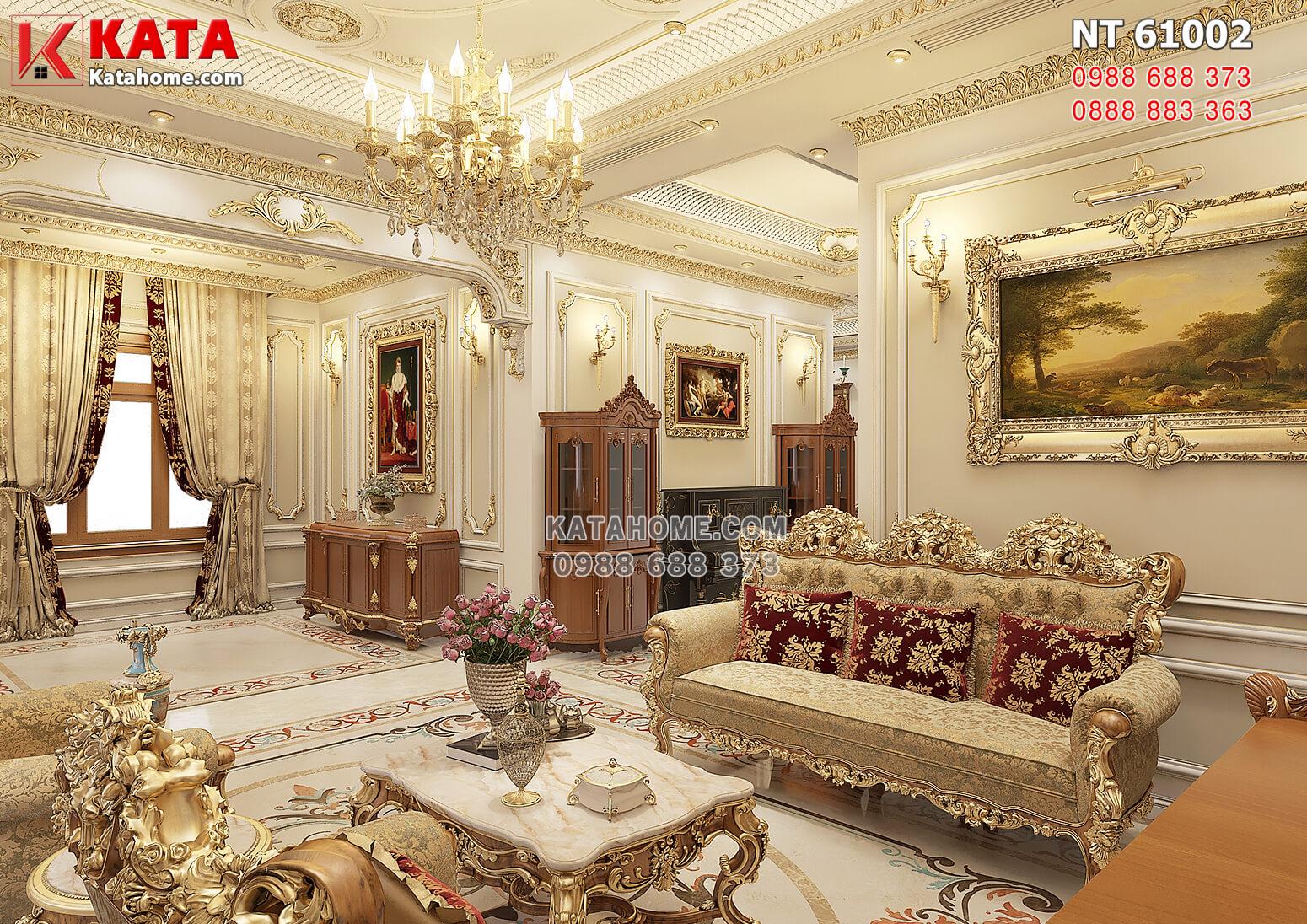 Hình ảnh: Vẻ đẹp hoàn mỹ của không gian nội thất phòng khách tân cổ điển
