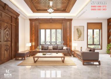 Hình ảnh: Nội thất gỗ óc chó phòng khách
