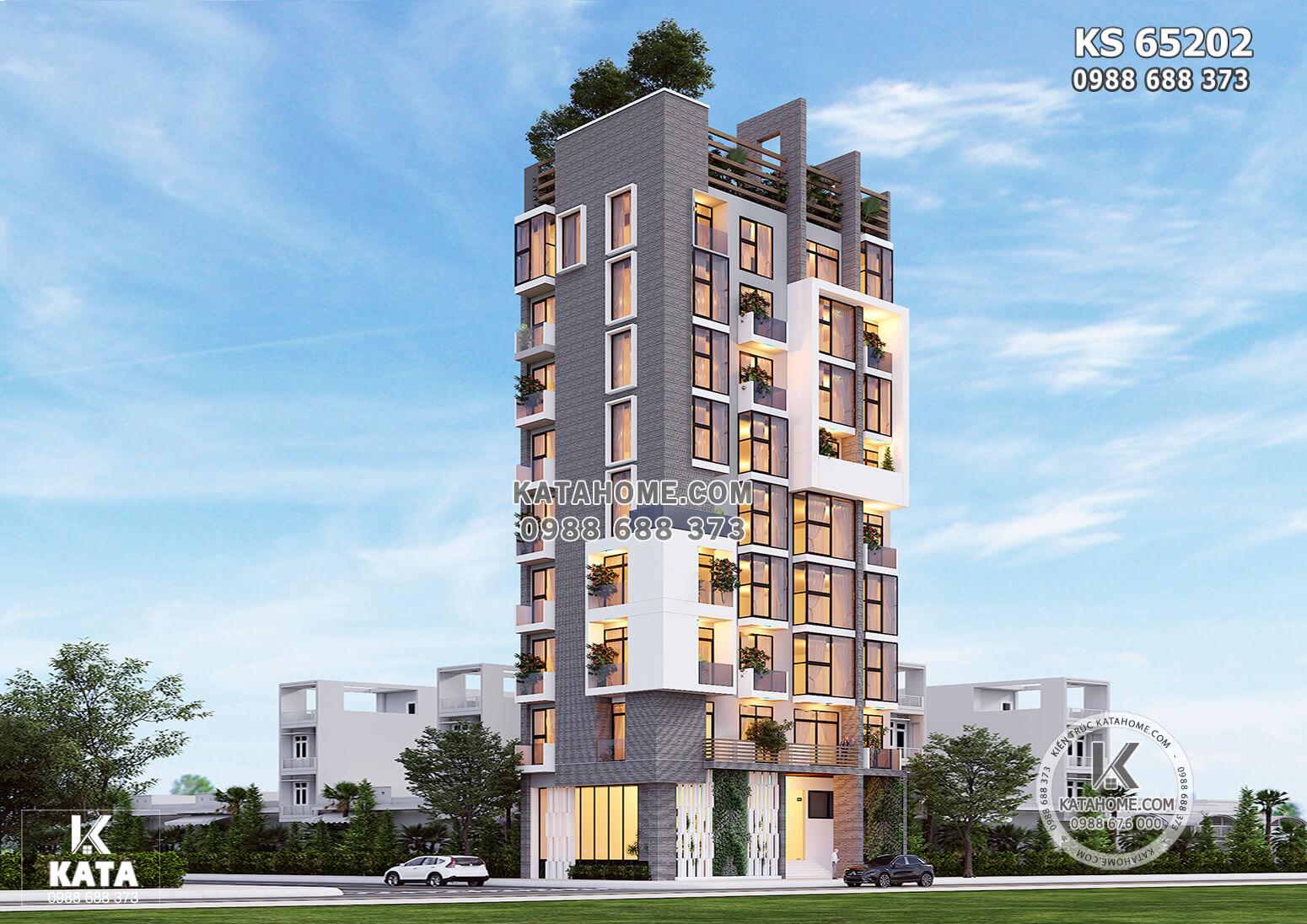 Hình ảnh: Không gian kiến trúc hiện đại của mẫu thiết kế khách sạn đẹp - KS 65202