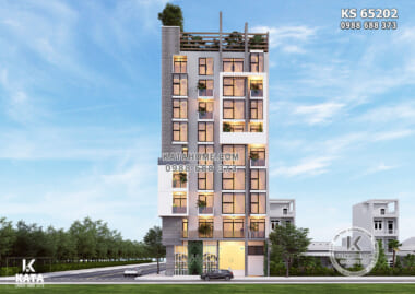 Hình ảnh: Thiết kế khách sạn hiện đại đẹp - KS 65202