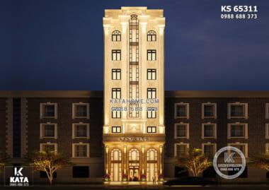 Hình ảnh: Không gian ngoại thất của mẫu thiết kế khách sạn tân cổ điển 2 sao