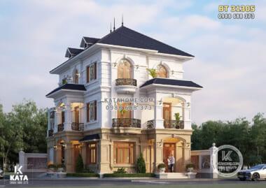 Hình ảnh: Thiết kế nhà 3 tầng tân cổ điển tại Hà Nam - BT 31305
