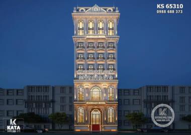 Hình ảnh: Không gian ngoại thất của mẫu thiết kế khách sạn 4 sao tân cổ điển - KS 65310