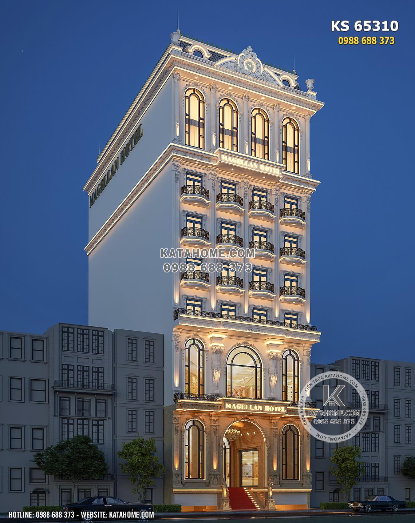 Hình ảnh: Vẻ đẹp của lối kiến trúc tân cổ điển dành cho mẫu thiết kế khách sạn 4 sao