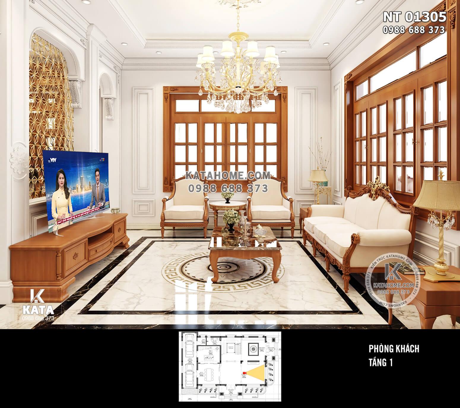 Hình ảnh: Thiết kế nội thất tân cổ điển - Phòng khách 1