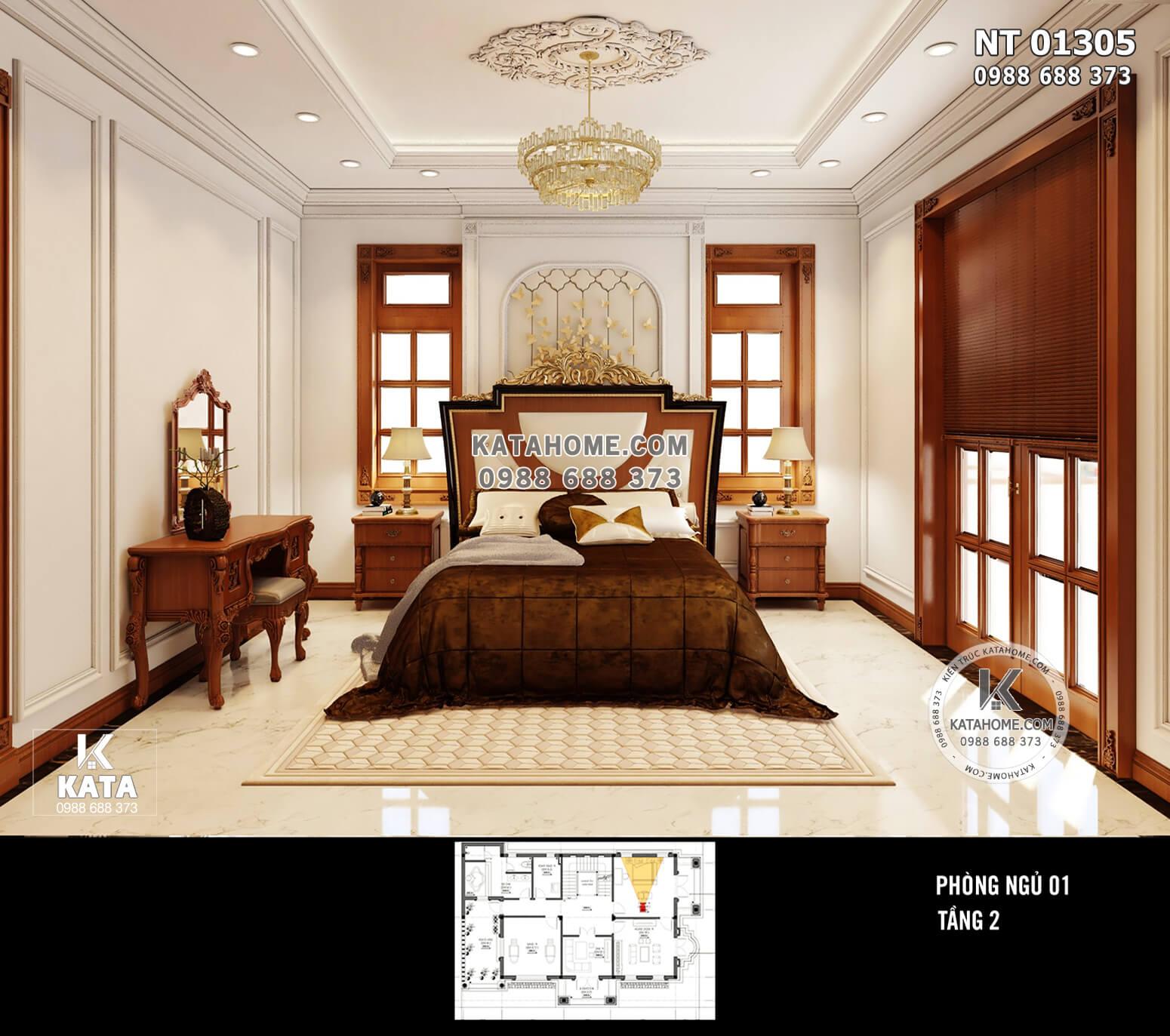 Hình ảnh: Không gian phòng ngủ 1 ở trên tầng 2