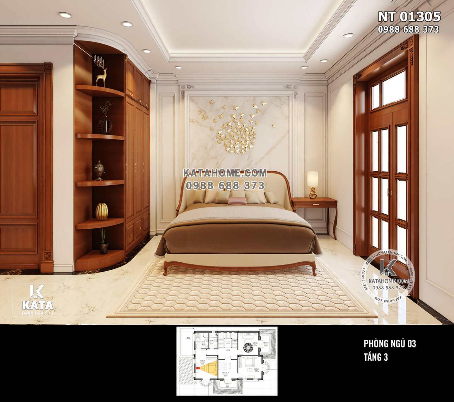 Hình ảnh: Không gian nội thất tân cổ điển của phòng ngủ 3