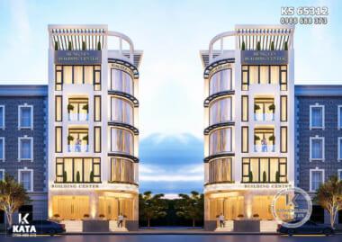 Hình ảnh: Không gian ngoại thất của mẫu thiết kế tổ hợp văn phòng tòa nhà cho thuê