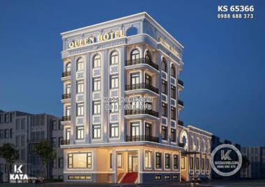 Phối cảnh 3D ngoại thất sang trọng, đẳng cấp của mẫu thiết kế tổ hợp khách sạn