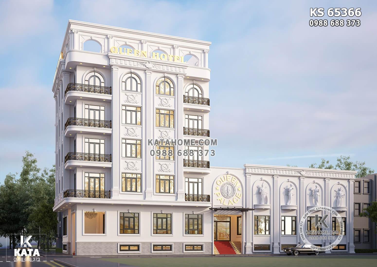 Nét đẹp xa hoa, lộng lẫy, sang trọng và đẳng cấp của mẫu thiết kế tòa nhà kinh doanh phong cách Pháp - Châu Âu