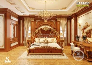 Hình ảnh: Nội thất phòng ngủ Master tân cổ điển